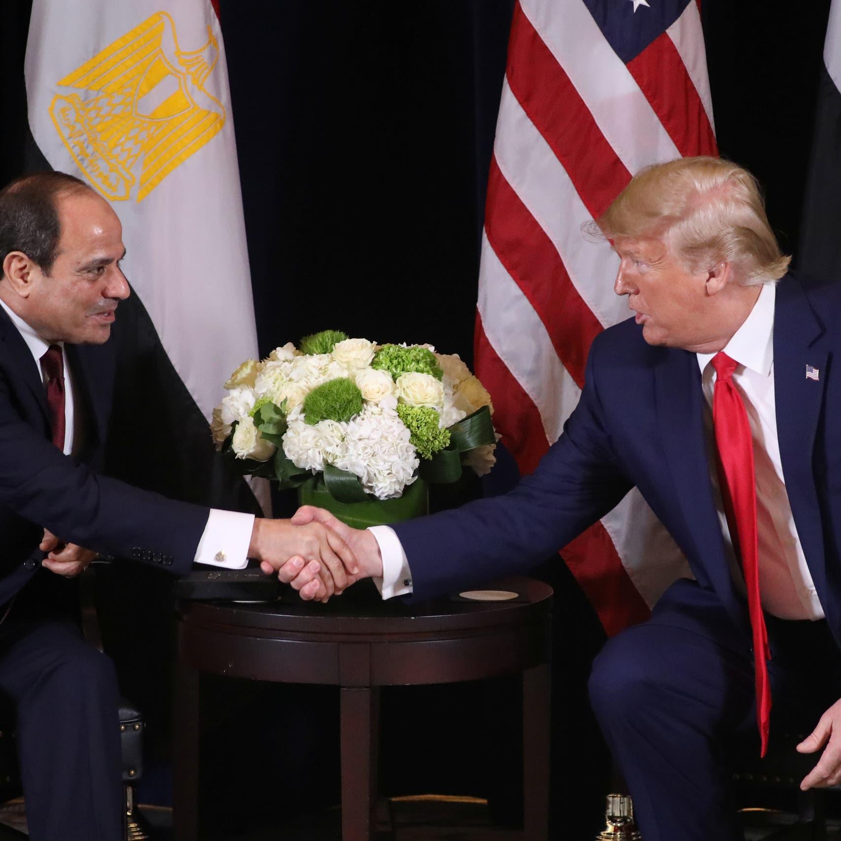 ترمب: الفوضى في مصر انتهت بقدوم السيسي