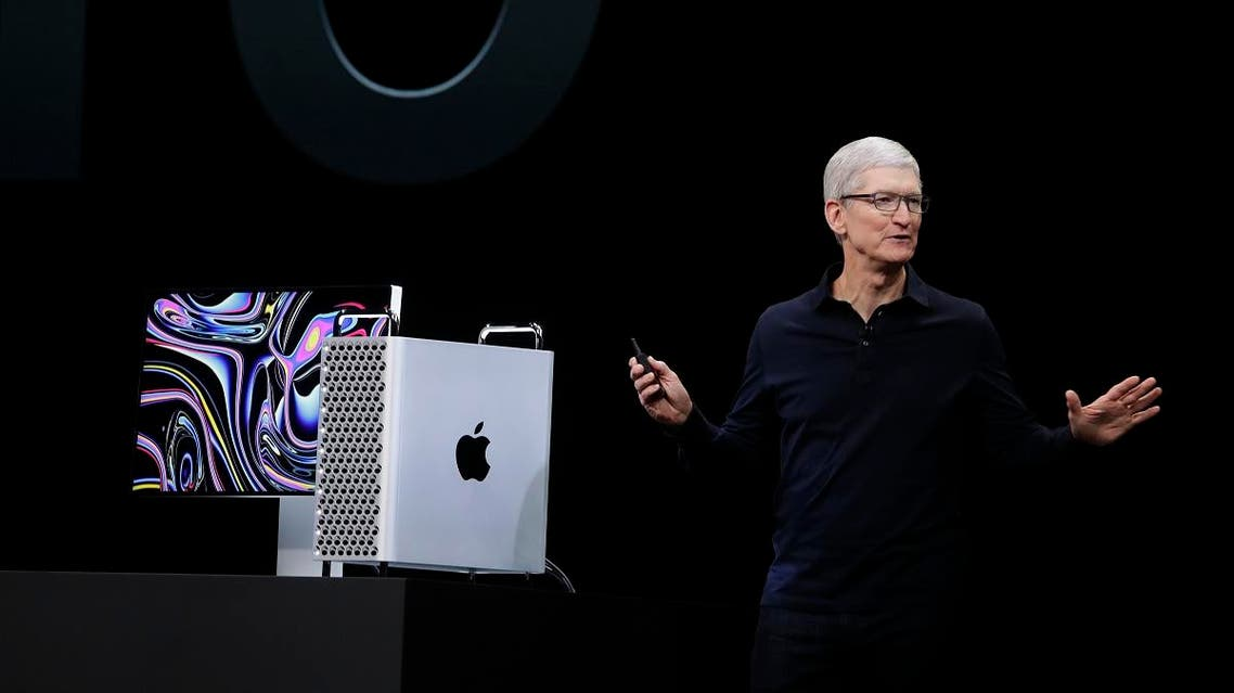 Apple CEO Tim Cook speaks about the Mac Pro at the Apple Worldwide Developers Conference in San Jose, California. (AP)