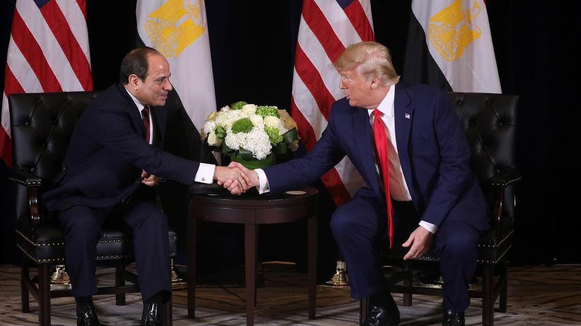 U.S. President Trump meets with with Egypt's President el-Sisi in New York City, New York. (Reuters)
