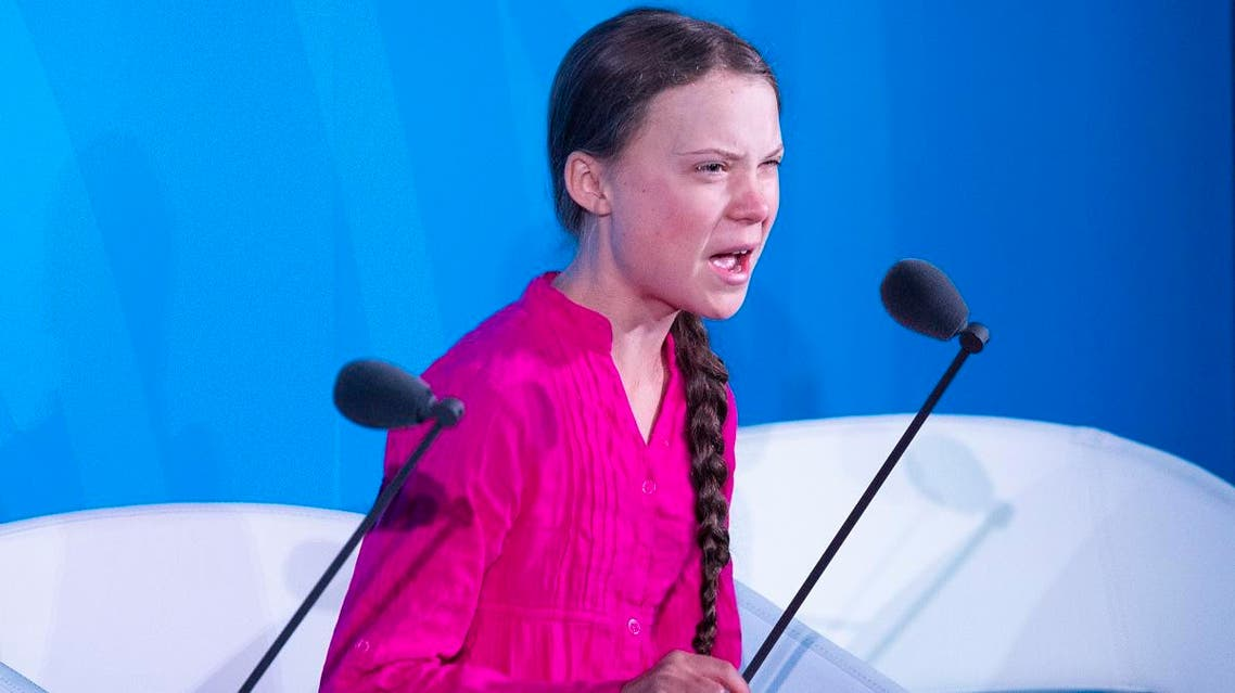 Youth Climate activist Greta Thunberg speaks during the UN Climate Action Summit on September 23, 2019 at the United Nations Headquarters in New York City. (AFP)