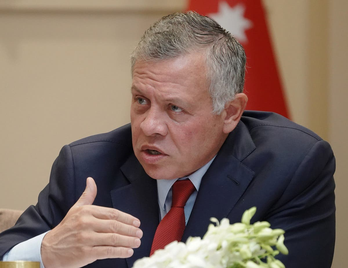 Jordanian King Abdullah II speaking during a meeting with local political figures in the capital Amman. (File photo: AFP)