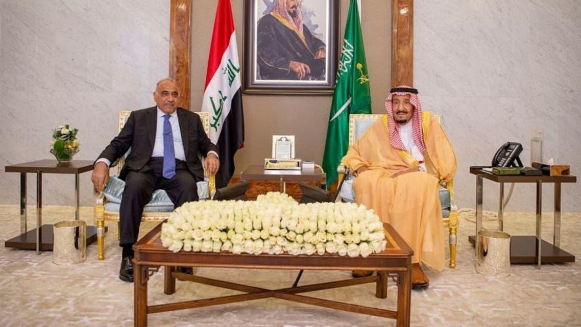 الملك سلمان وعادل عبدالمهدي جدة