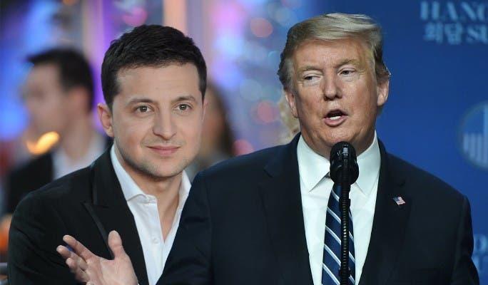 الرئيسان دونالد ترمب وفولويمير زيلينسكي