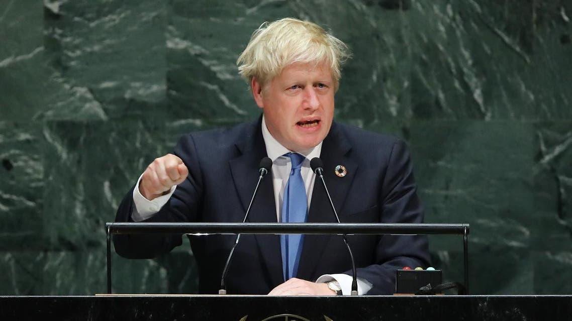 Boris Johnson UNGA. (AFP)