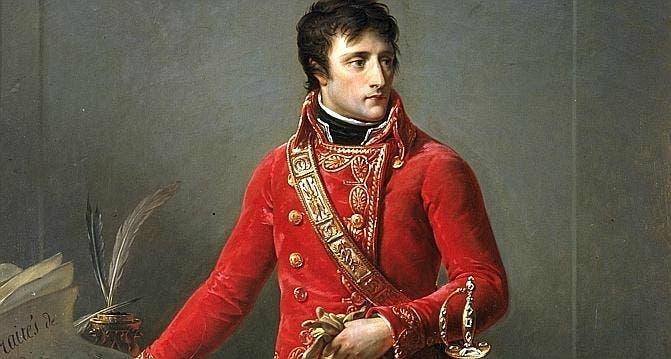 """نابليون بونابرت عقب تعيينه """"قنصل أول"""" لفرنسا"""