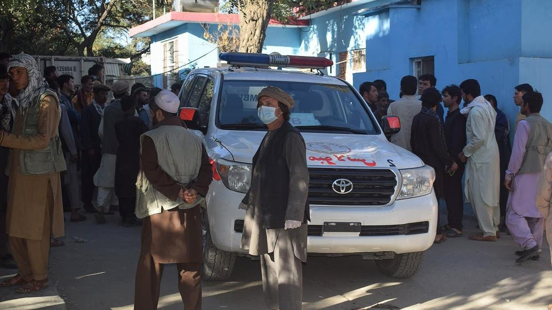 Relatives of Afghan victims arrive outside a hospital, after a suicide attack that targeted a campaign rally for Afghan President Ashraf Ghani in Parwan Province on the outskirts of Kabul on September 17, 2019. (AFP)
