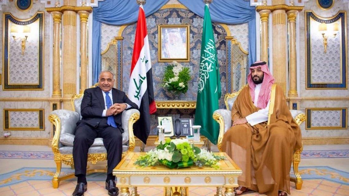 ولي العهد السعودي ورئيس الوزراء العراقي