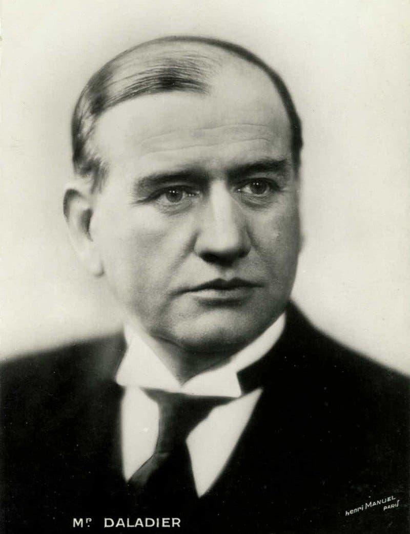 صورة لرئيس الوزراء الفرنسي إدوارد دلادييه
