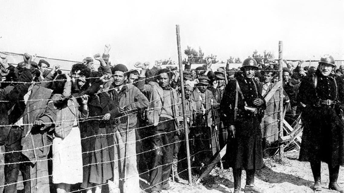 صورة للاجئين إسبان خلال فترة الحرب الأهلية