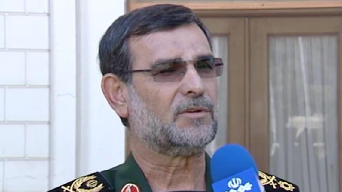Navy commander IRGC Alireza Tangsiri interviewed by IRNA - Screengrab