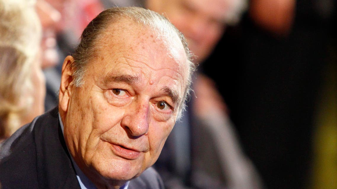 Former French President Jacques Chirac attends a ceremony awarding laureates of the Fondation Chirac at Quai Branly Museum in Paris, Thursday, Nov. 24, 2011. (AP)