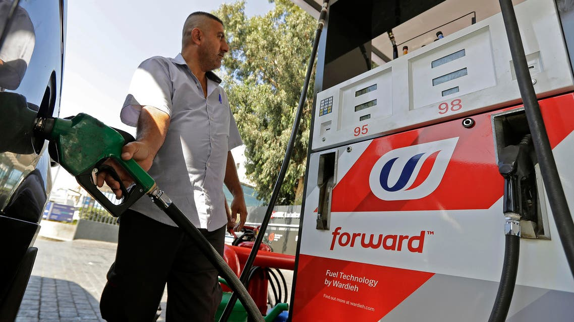Syndicate of Gas Station Owners Lebanon suspend petrol oil strike us dollar - AFP