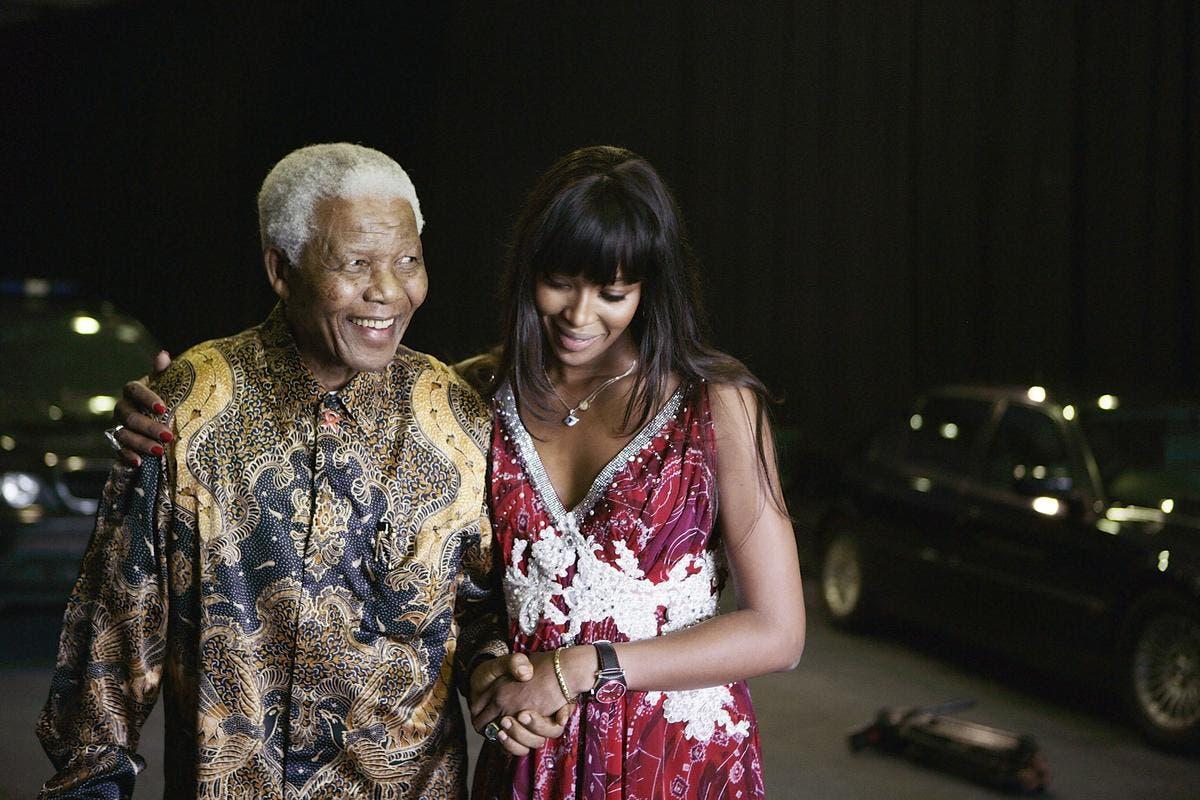 مع الرئيس نيلسون مانديلا