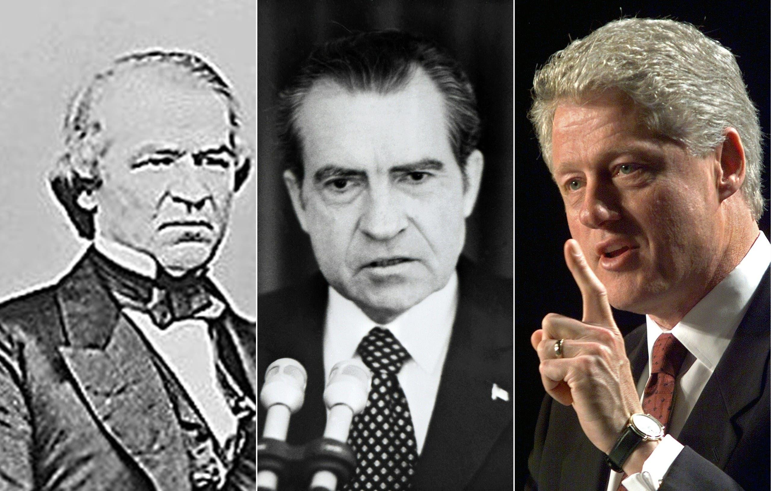 بيل كلينتون وريتشارد نيكسون واندرو جونسون