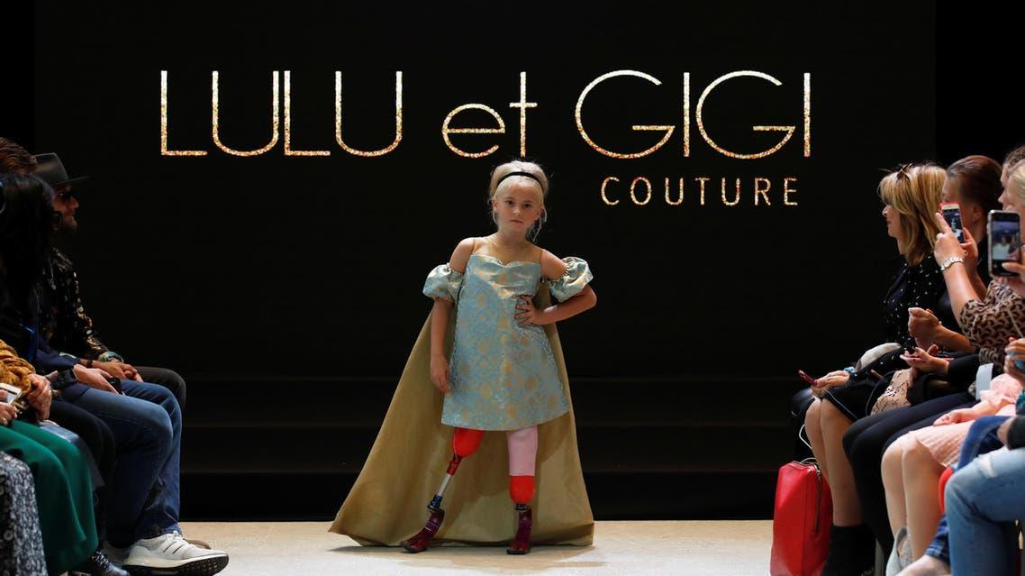 Model Daisy-May Demetre presents a creation by Designer Eni Hegedus-Buiron for luxury children's wear label Lulu et Gigi during Paris Fashion Week in Paris, France, September 27, 2019. REUTERS