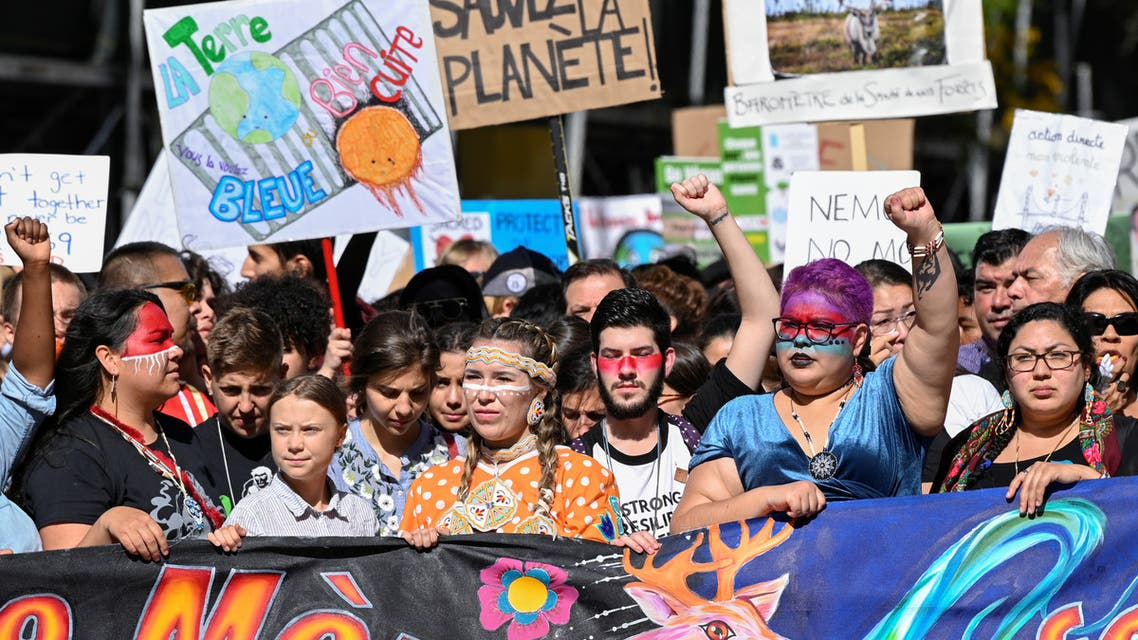 Climate change teen activist Greta Thunberg joins a climate strike march in Montreal, Quebec, Canada September 27, 2019. REUTERS/Andrej Ivanov