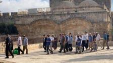 بیت المقدس : درجنوں یہودی آباد کاروں کا مسجد اقصیٰ پر دھاوا