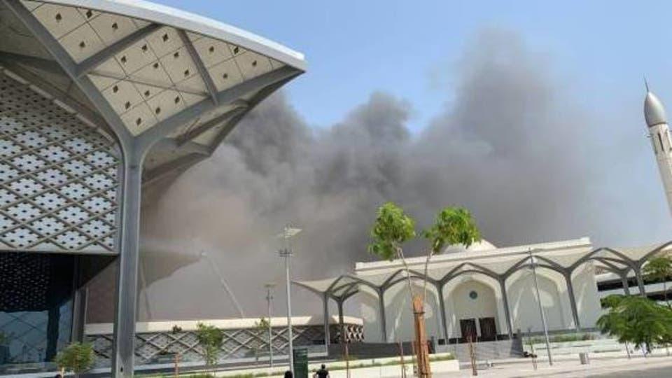 بالفيديو .. اسباب الحريق الضخم في محطة قطار الحرمين بجدة وعدد الاصابات