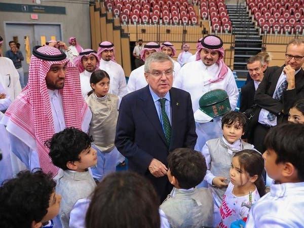 عبدالعزيز بن تركي الفيصل يستقبل توماس باخ
