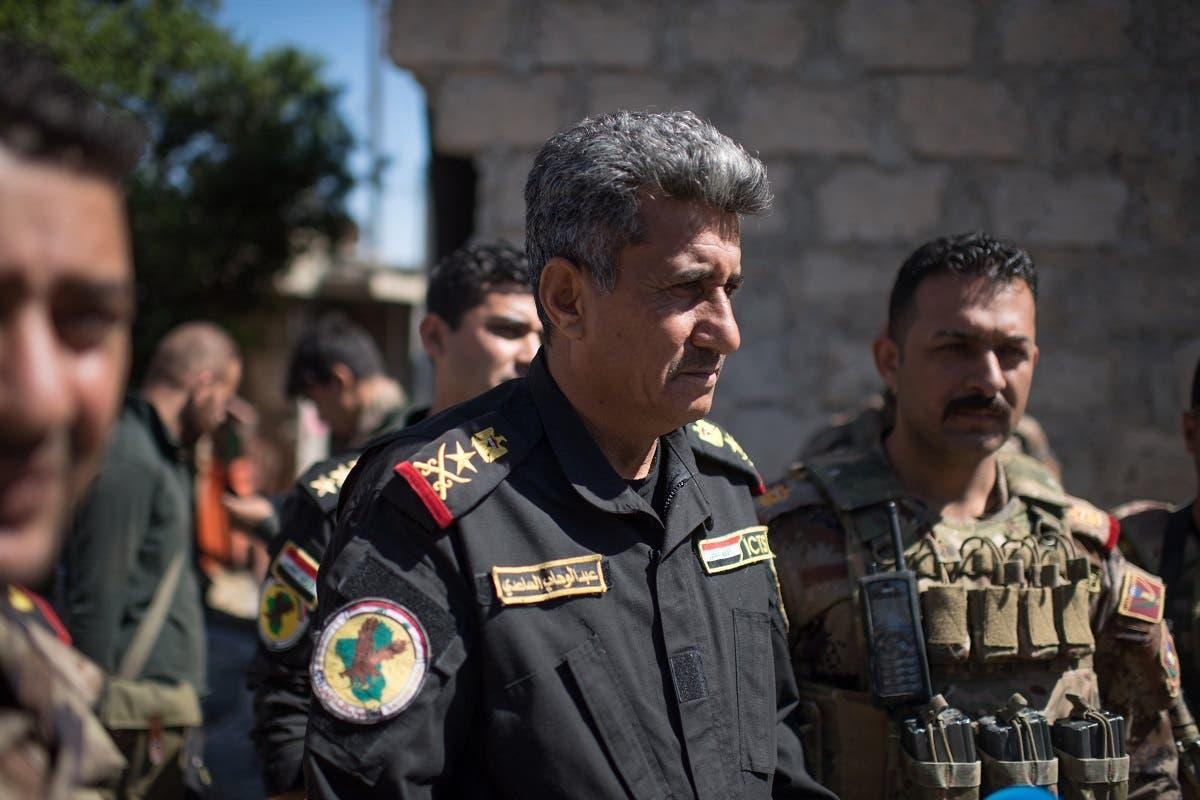 General Abdul Wahab Al-Saadi in West Mosul's Tenek neighbourhood on April 25, 2017. (AFP)