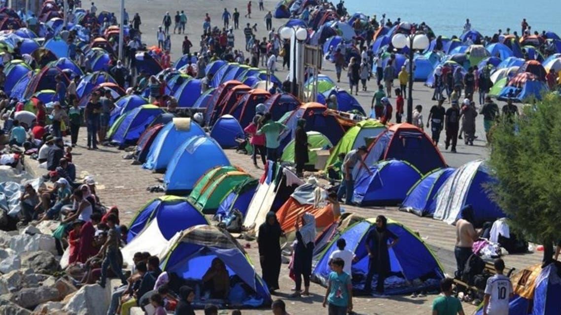 اليونان مخيم لاجئين