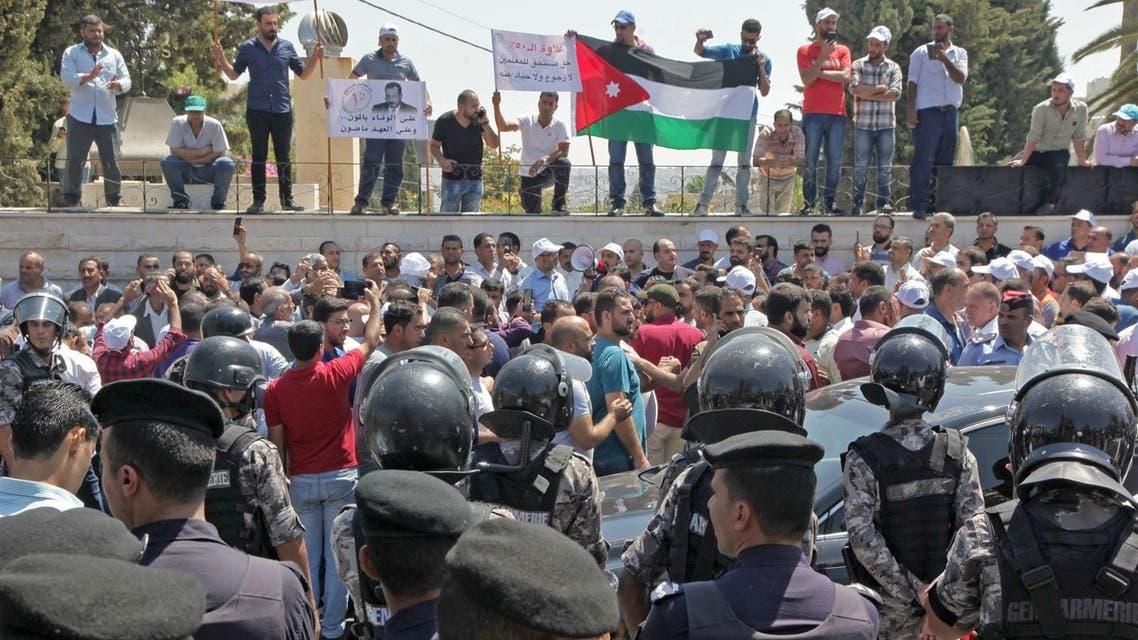 إضراب المعلمين بالأردن