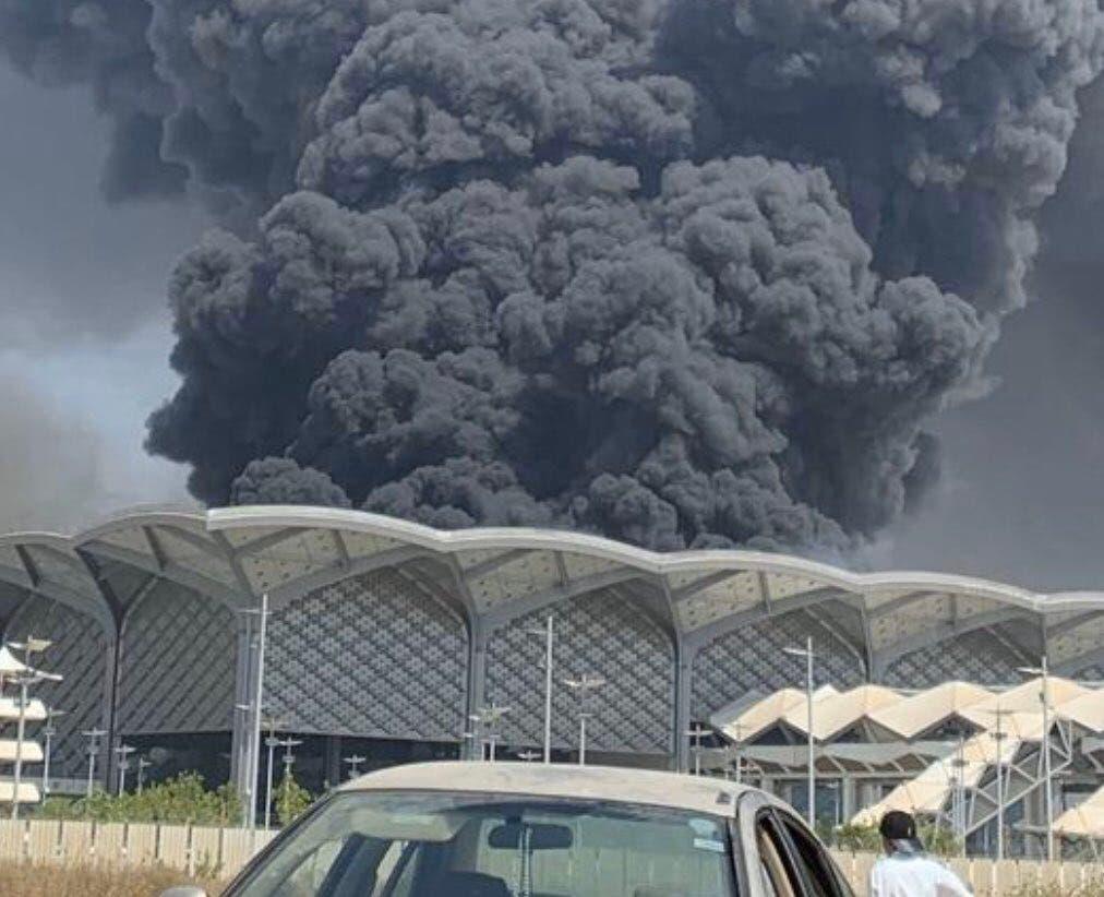 السعودية إصابة 5 في حريق محطة قطار الحرمين
