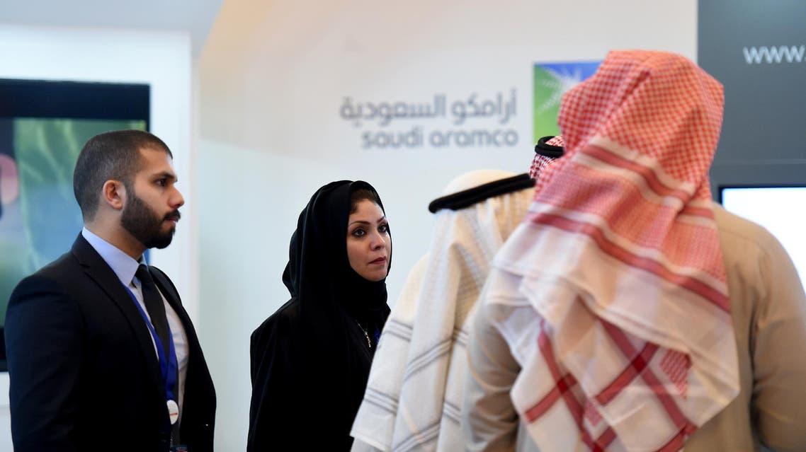 Saudi aramco woman AFP