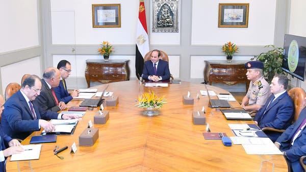 السيسي يجتمع بمسؤولين أمنيين لبحث مكافحة الإرهاب