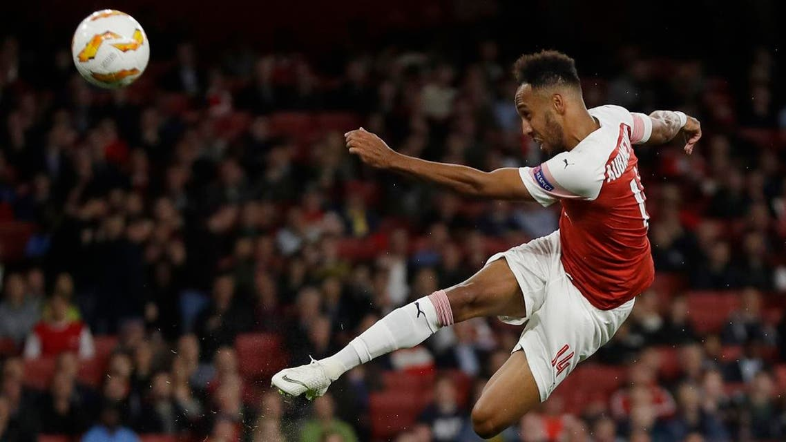 File photo of Arsenal's Pierre-Emerick Aubameyang in action. (AP)