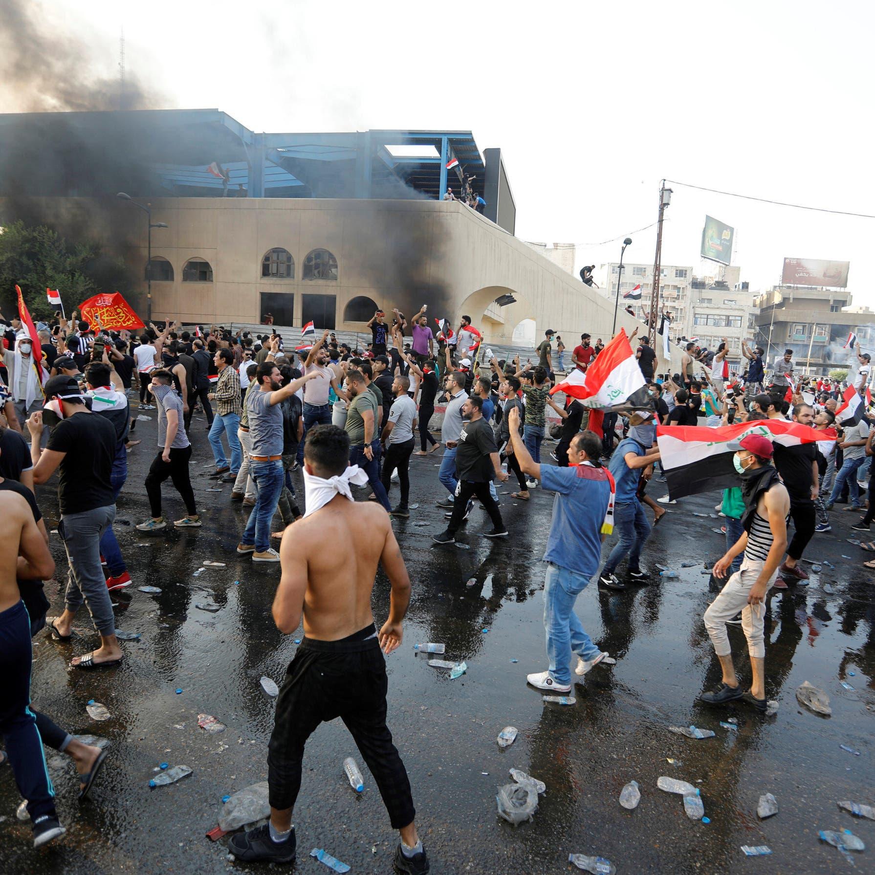 تظاهرات غاضبة في بغداد.. سقوط قتيل و200 جريح