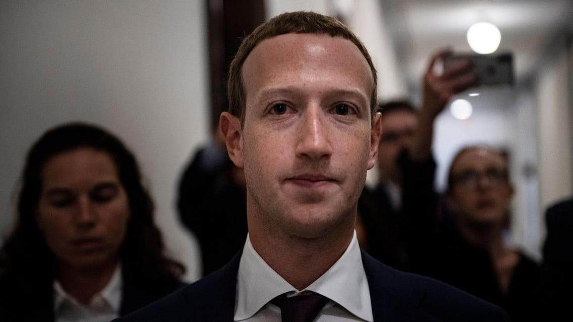 Facebook CEO Mark Zuckerberg walks to meetings for technology regulations and social media issues on September 19, 2019, in Capitol Hill, Washington, DC. (AFP)