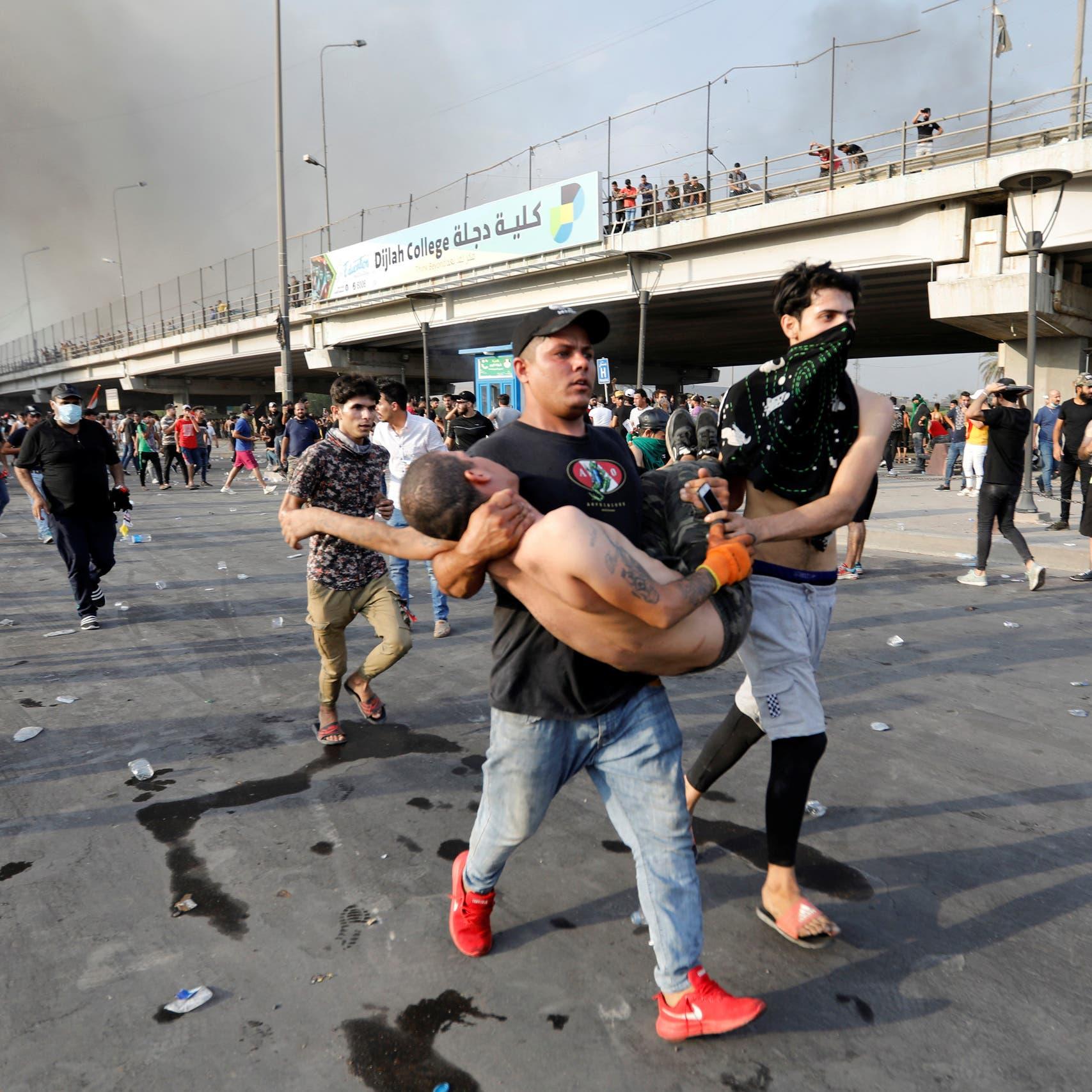 العراق.. قتلى وجرحى وفرض للطوارئ وهتافات ضد إيران