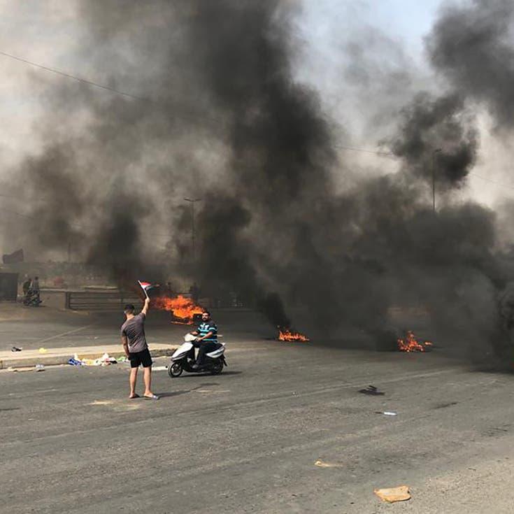 "شاهد هتافات العراقيين: ""طهران برا برا كربلاء تبقى حرة"""