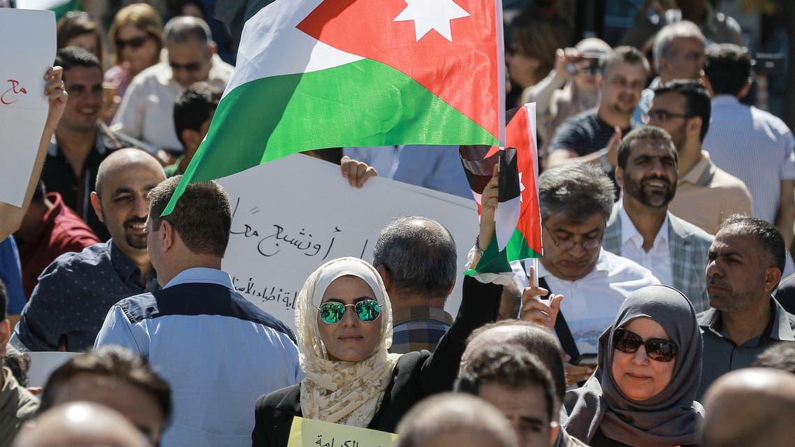 احتجاجات المعلمين في الأردن الخميس