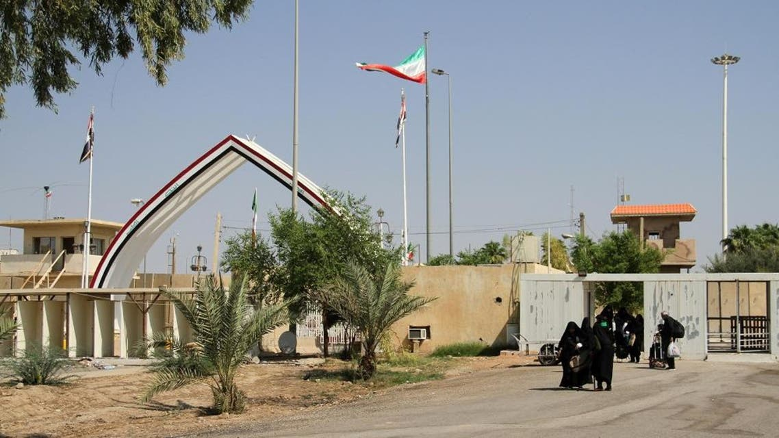 A picture taken on October 2, 2019, shows the Khosravi border crossing between Iraq and Iran. (AFP)
