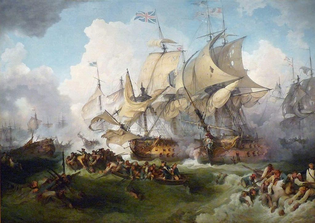 رسم تخيلي لإحدى المعارك في خضم حرب التحالف الأولى