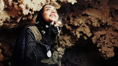 """صور.. أول مرشدة كهوف سعودية تروي تجربتها لـ""""العربية.نت"""""""