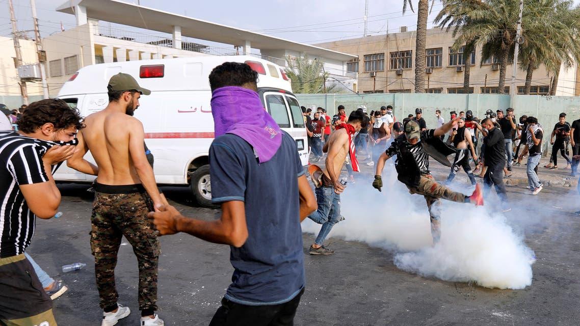 تظاهرات العراق 3 أكتوبر رويترز