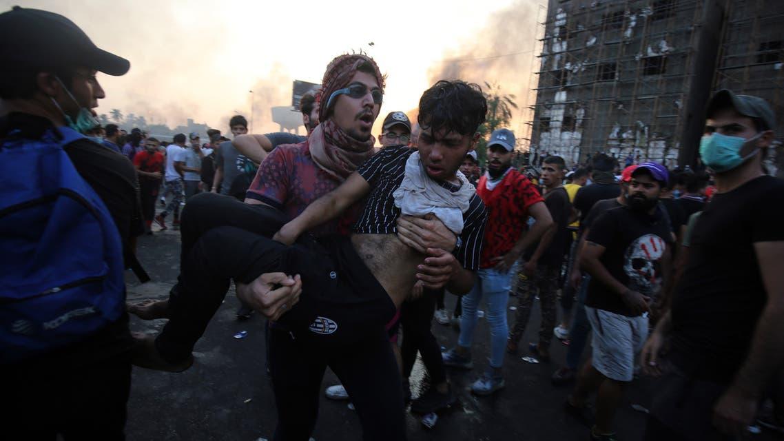 من تظاهرات العراق(3 أكتوبر 20199- فرانس برس)