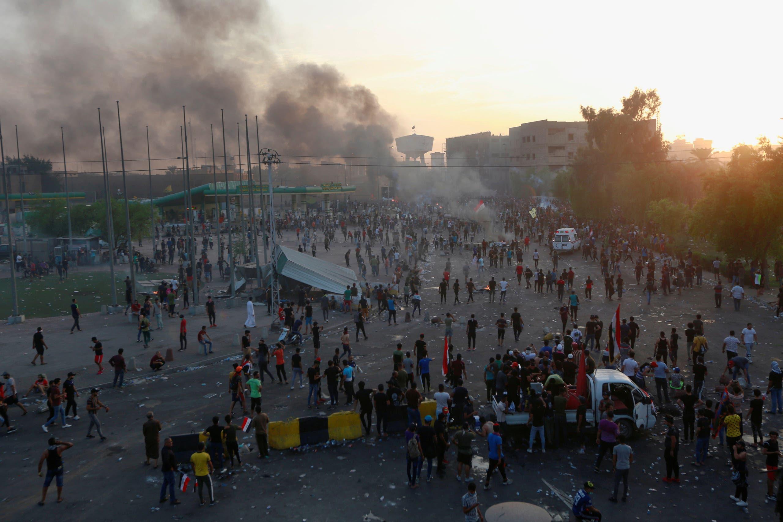 من تظاهرات العراق في أكتوبر 2019