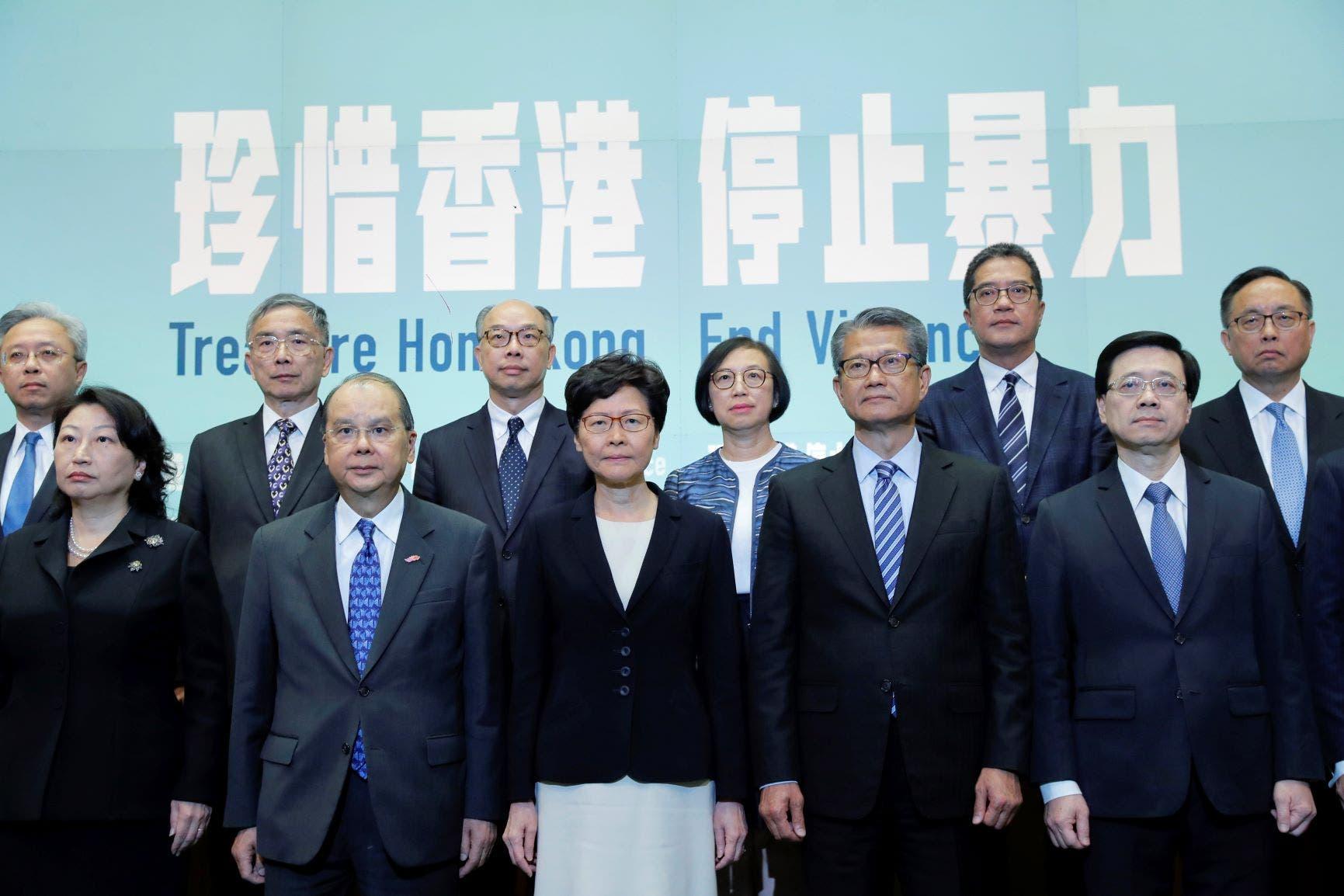 كاري لام تترأس اجتماعا خاصا للمجلس التنفيذي