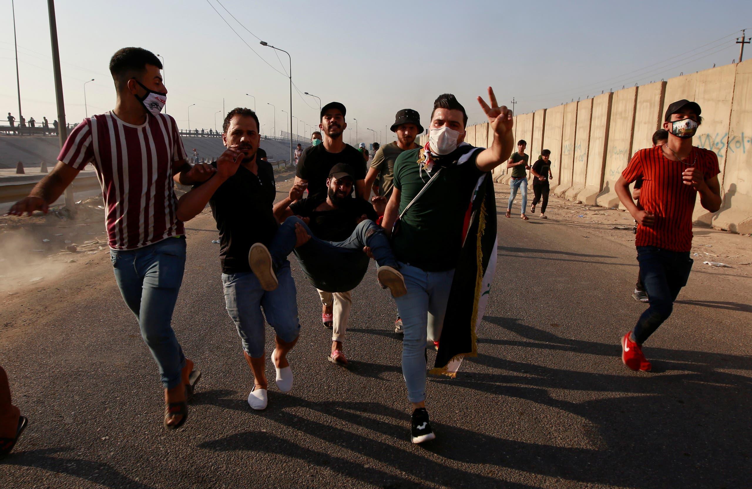 من تظاهرات العراق (3 أكتوبر- رويترز)