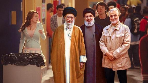 IDF edits photo to show Khamenei, Suleimani, and Nasrallah in 'Mean Girls' scene