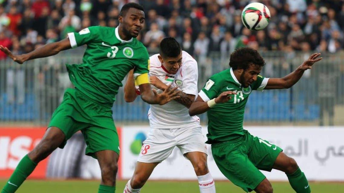 KSA and Palestine football teams