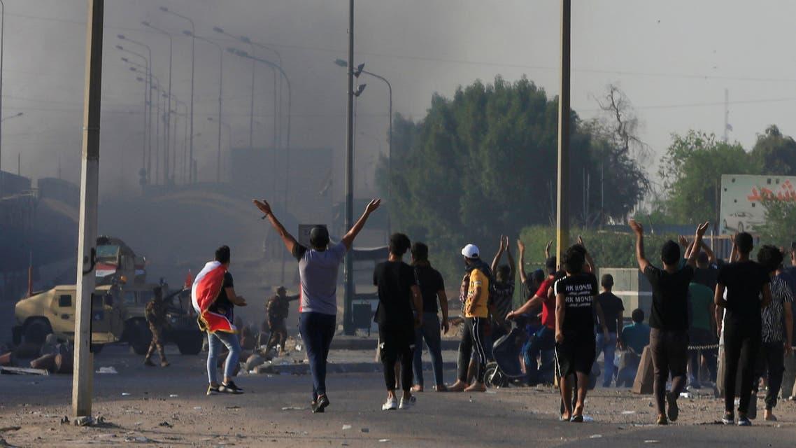 من تظاهرات العراق (3 أكتوبر 2019 - رويترز)