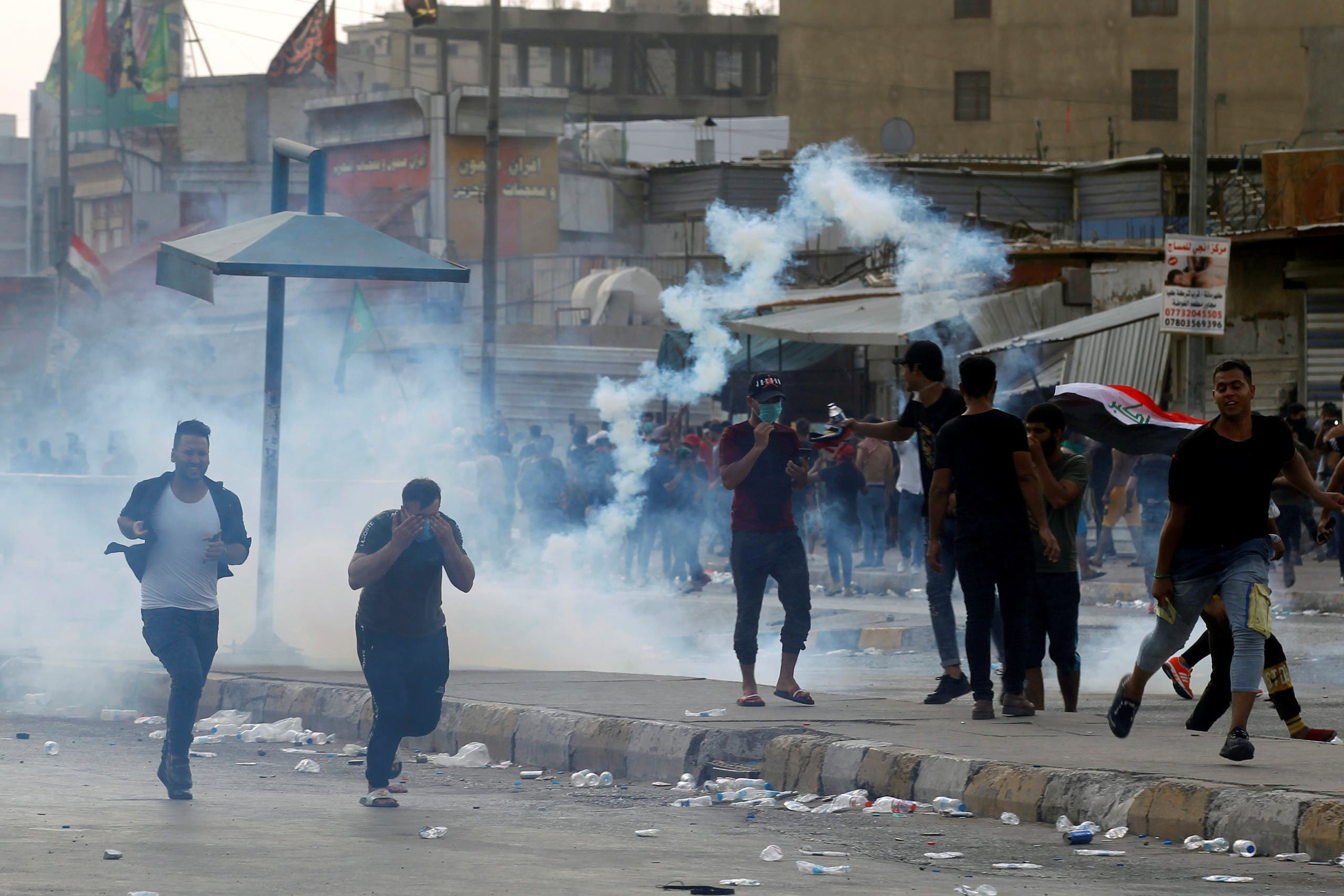 من تظاهرات العراق( 3 أكتوبر- رويترز)