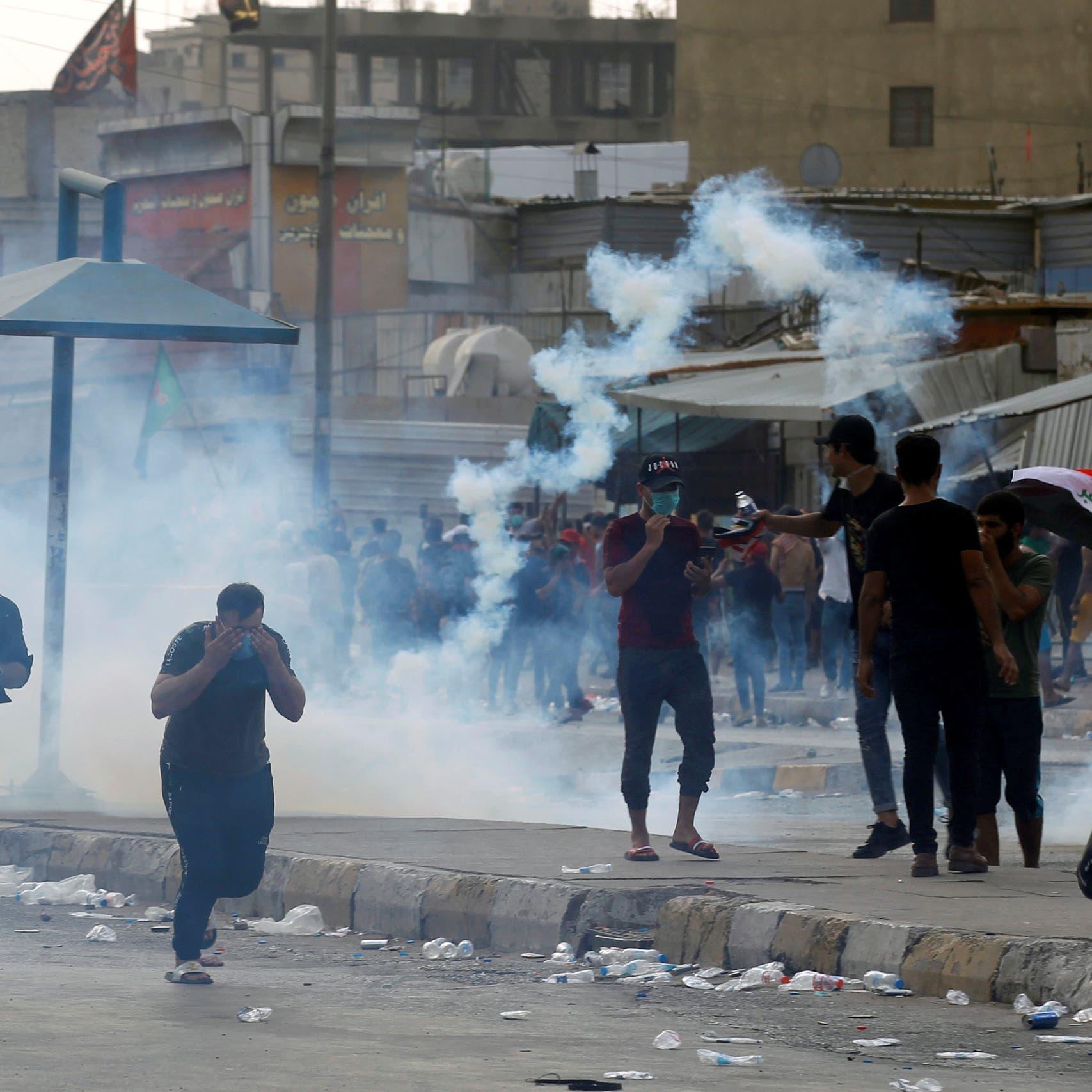 """باريس تدعو حكومة العراق إلى """"رد متكافئ"""" على المتظاهرين"""