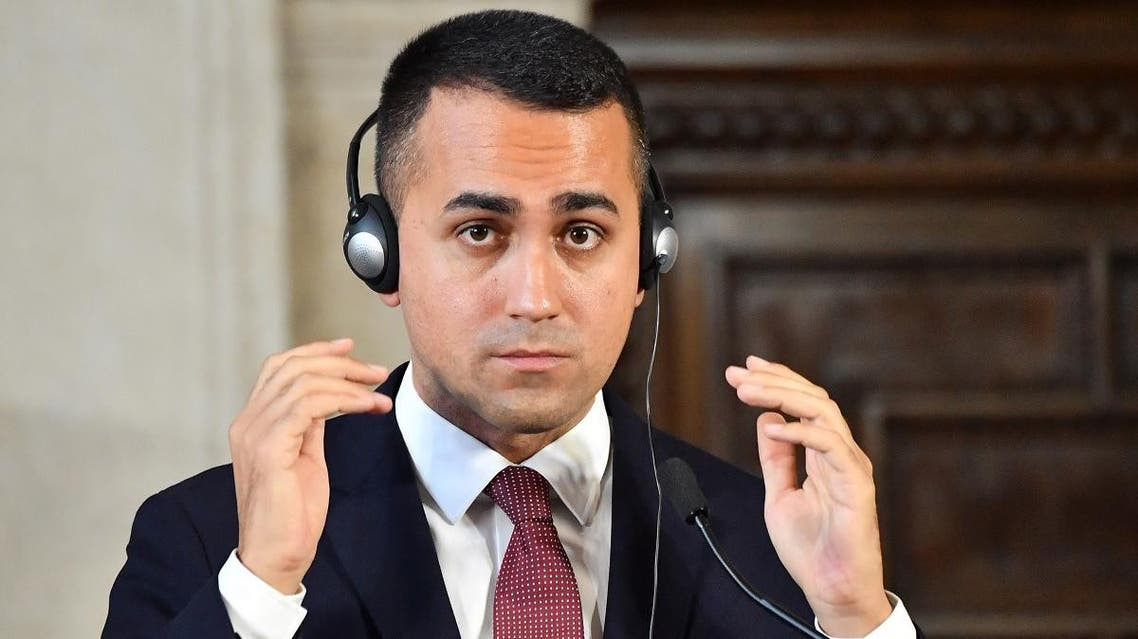 """""""I do not believe that redistributing migrants to other European countries is the final solution,"""" says Italian Foreign Minister Luigi Di Maio. (AFP)"""