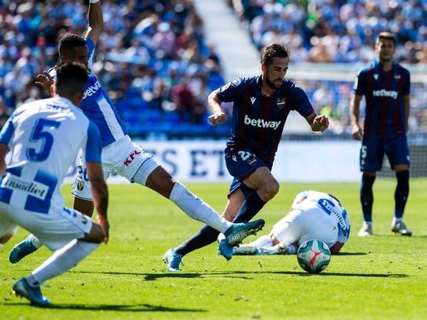 ليفانتي ينتزع فوزاً صعباً من ليغانيس في الدوري الإسباني